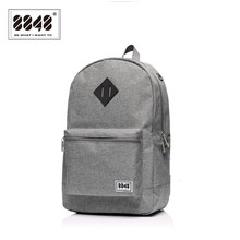 8848 Brand Men Backpack Preppy Style Pattern School Backpack Bag For Teenager Student Casual Gray 15.6 Inch Laptop S15010-10(China)
