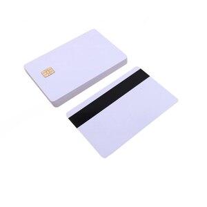 Image 1 - 5 шт/10 шт Белая пустая ПВХ Контактная смарт карта IC с 4442 чипом + магнитной полосой 3 треков HiCo