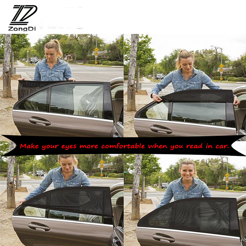 ZD 2Pcs For Renault Megane 2 3 Duster <font><b>VW</b></font> Touran Passat B6 Golf 7 <font><b>T5</b></font> T4 Fiat Car Window Windshield Sun Shade Visor Curtain Covers image