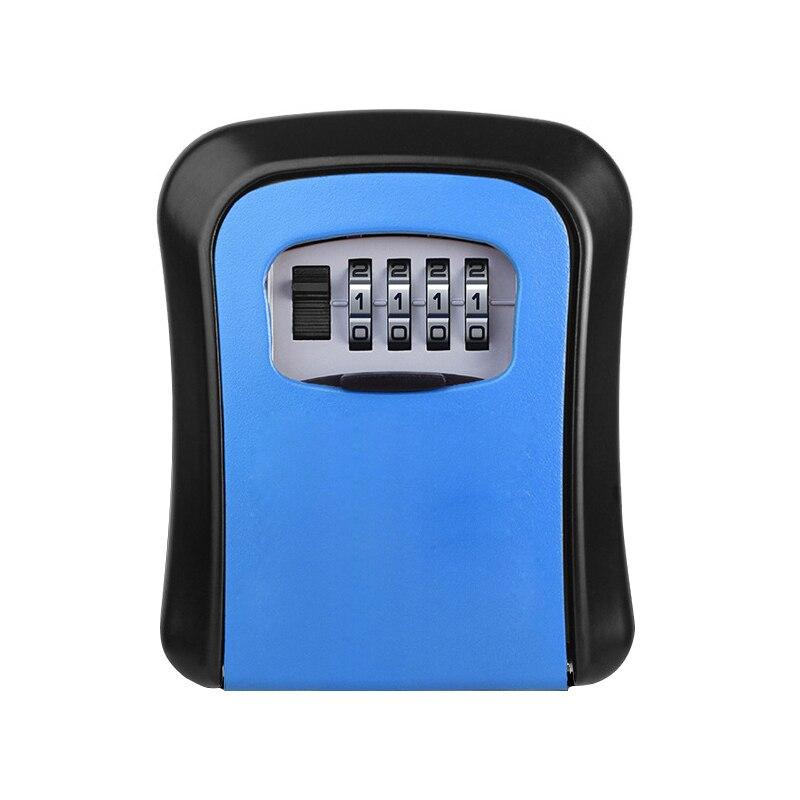 Key Safe Box Wall Mount Combination Password Lock Mini Safes Aluminum Alloy Material Keys Storage Box Home Office Security Safes