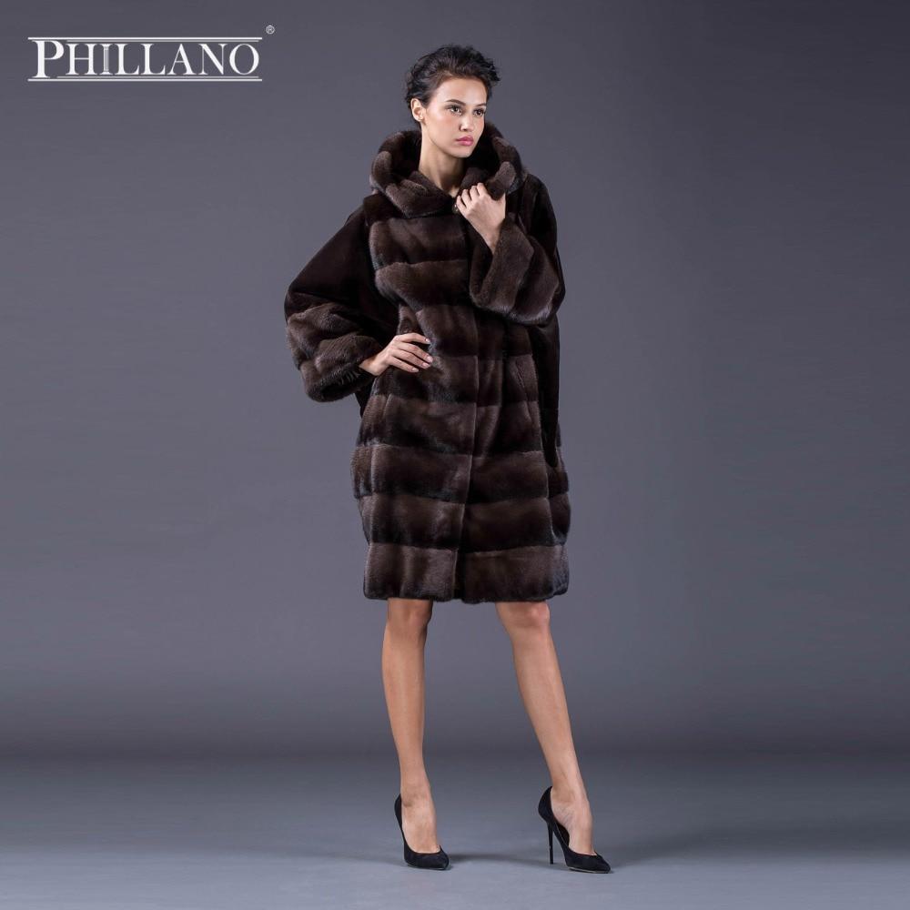 PHILLANO Abrigo de piel de invierno con mangas de murciélago Ropa de - Ropa de mujer - foto 6