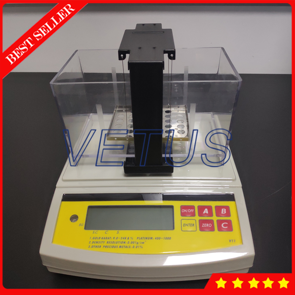 DE-120K Oro Purezza Analizzatore di Macchina Elettronica contenuto In Oro rivelatore di Metallo Prezioso argento Tester Oro K Valore Tester