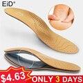 Unisex de cuero ortopédicos pie plano de plantillas de zapatos arco alto apoyo ortopédicos Pad para corrección de OX de la pierna de la salud cuidado