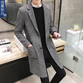 Male trench medium-long autumn and winter thickening wool coat slim men's clothing fashion woolen outerwear