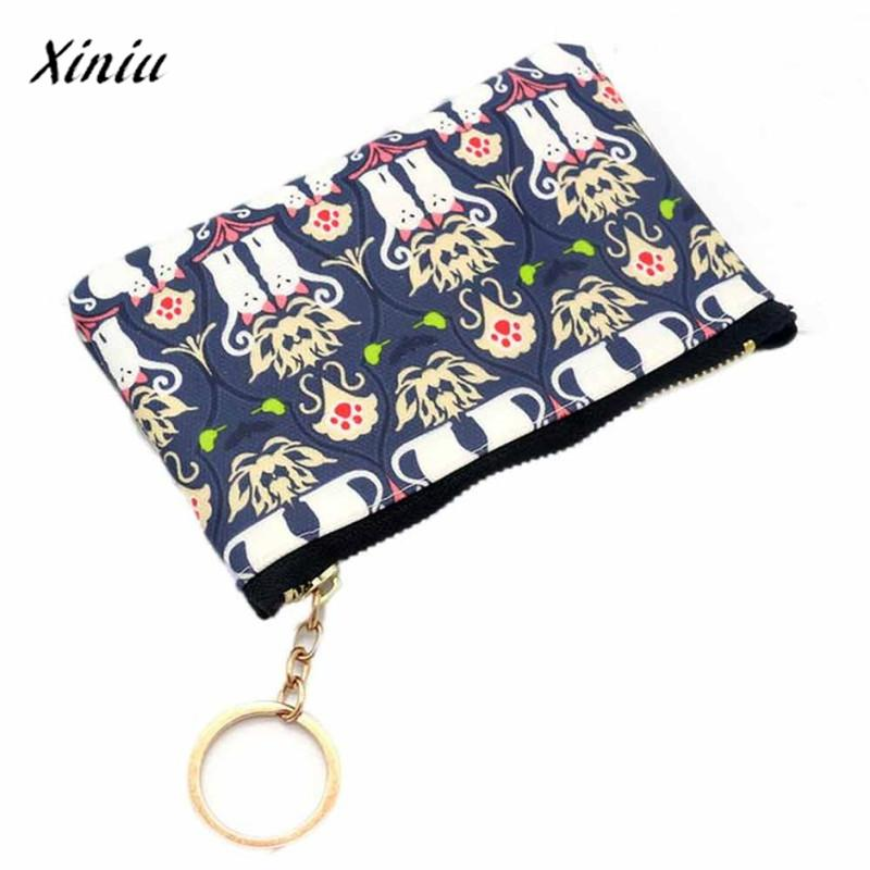 Women Coin purse monederos para mujer Lady Fashion Vintage Leather Small Wallet Hasp Purse Clutch Bag