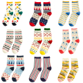 women autumn winter brand cotton for woman fashion character stripes socks cute polka dots short socks s352
