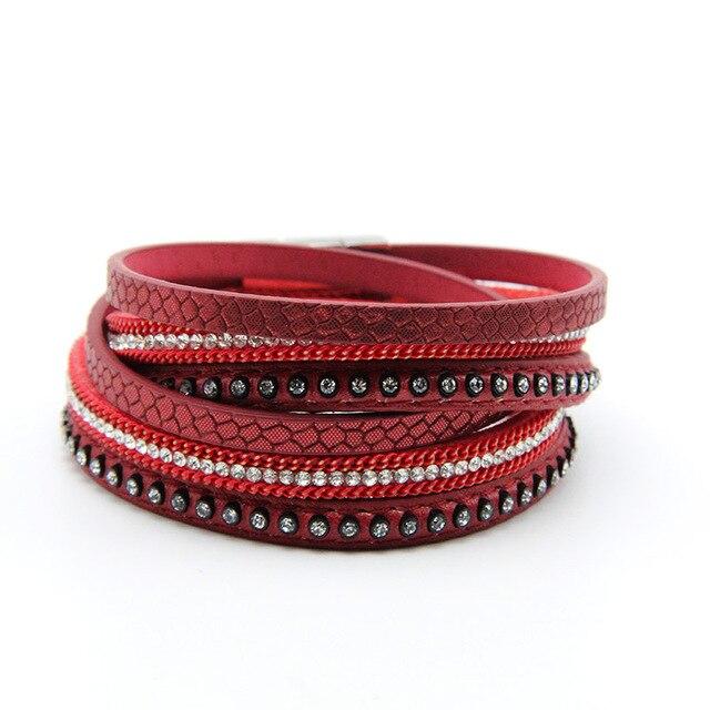 Wrap Leather Bangle Charm...
