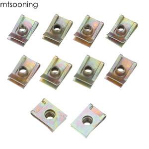 Image 4 - Mtsooning 10 шт. 6 мм M6 протекторная панель, шпиль, гайка, обтекатель, зажим, крепеж, скорость, цинк, монтажный зажим для VW