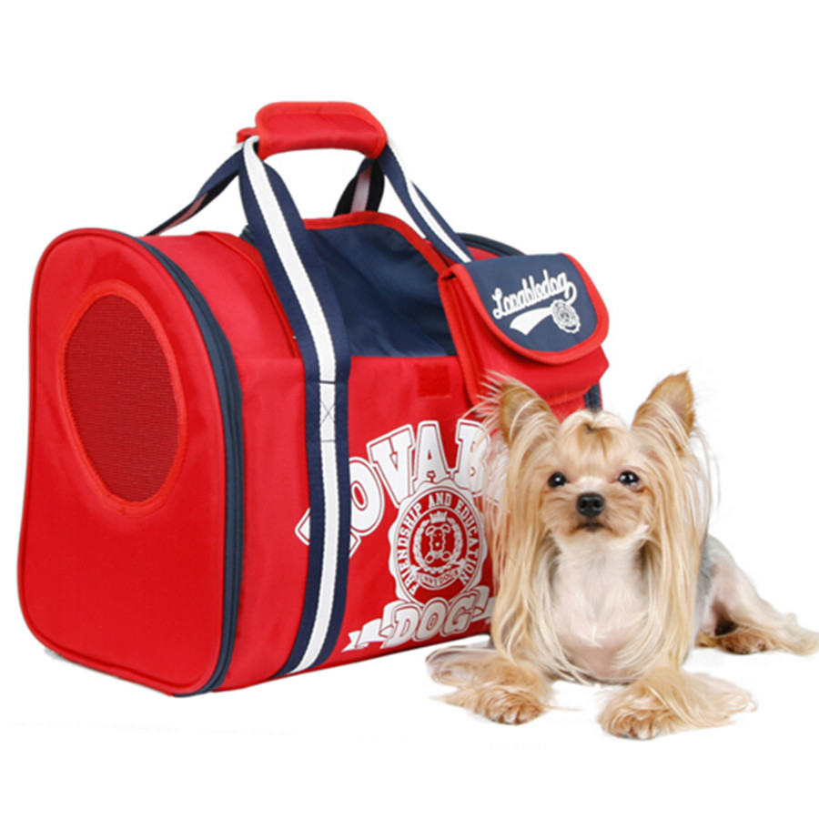 Red Oxford Canvas Dog Backpack Pet Carrier Dog Bag  For Small Dogs Cat American Sporty Trasportin Bags For Dogs
