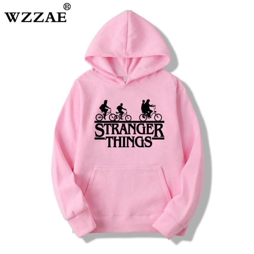 Trendy Faces Stranger Things Hooded Hoodies and Sweatshirts 32