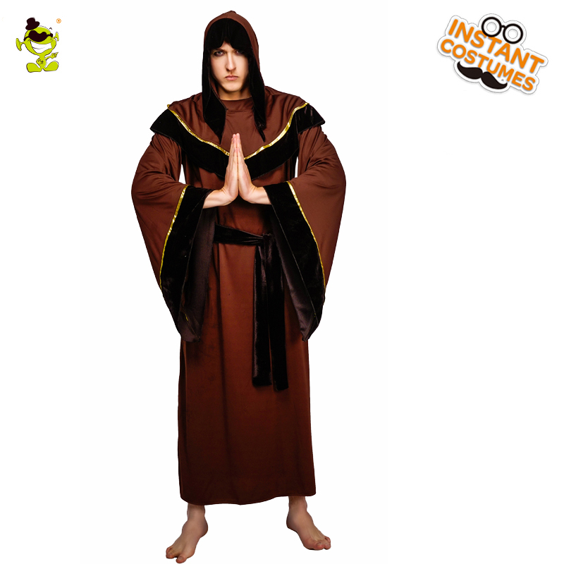 QLQ Adult Men s Grim Reaper Costume Role Play Brown Robe Halloween Party  Performance Grim Reaper Costumes for Purim Party -in Holidays Costumes from  Novelty ... 51f6ac4fa