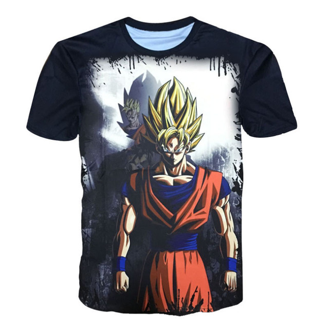 Dragon Ball Z T shirts Super Saiyan Son Goku Black Gohan Vegeta Master Roshi 3D Printed Men Summer T-shirts Kakarotto Tops Tees