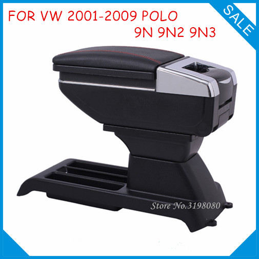 FREE SHIPPING CAR ARMREST FOR VW 2001-2009 POLO 9N 9N2 9N3 Car Accessories Console Box Center Arm Rest With Cup Holder Ashtray for volkswagen vw polo 9n 2002 2009 armrest box central store content storage box center console leather cup holder dual layer