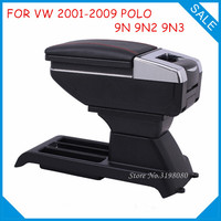 FREE SHIPPING CAR ARMREST FOR VW 2001 2009 POLO 9N 9N2 9N3 Car Accessories Console Box Center Arm Rest With Cup Holder Ashtray