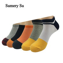 5 Pairs/Lot Ankle Socks Men Harajuku style Casual Running Outdoor No Show Low Cut Cotton Socks 2 Styles  Hot Sale цены