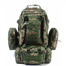 50L Multifunction Sport Bag Large Capacity Waterproof Molle Backpacks Camouflage Military Tactical Backpack for Climbing Hiking