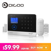 Digoo DG HOSA 433MHz Wireless GSM&WIFI DIY Smart Home Security Alarm Systems Kits Infrared Motion Sensor Door Magnetism Alert