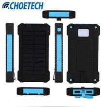 Top Solar Power Bank Dual USB Travel Power Bank 20000mAh External Battery Portable Bateria Externa Pack for Mobile phone
