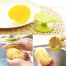 Household Double Side Easy Cleaning Brush For Potato Peeler Carrot Fruit Kitchen Tools Gadgets