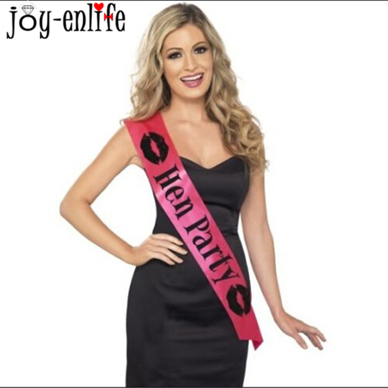 1pcs Pink Black Bachelorette Party Accessories Hen Night Stain Sashes Bride To Be For Wedding Decoration In DIY Decorations