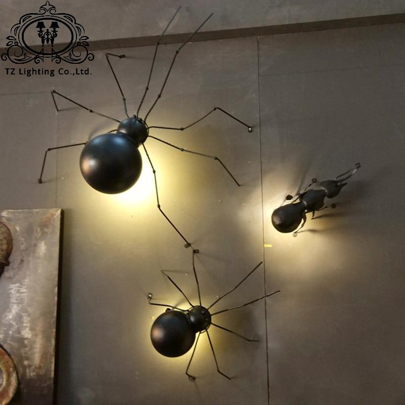 TZ современный паук Ant бра черный гладить Книги по искусству светодиодный G9 ant бра черный Железный Паук бра для ванной спальня огни ...