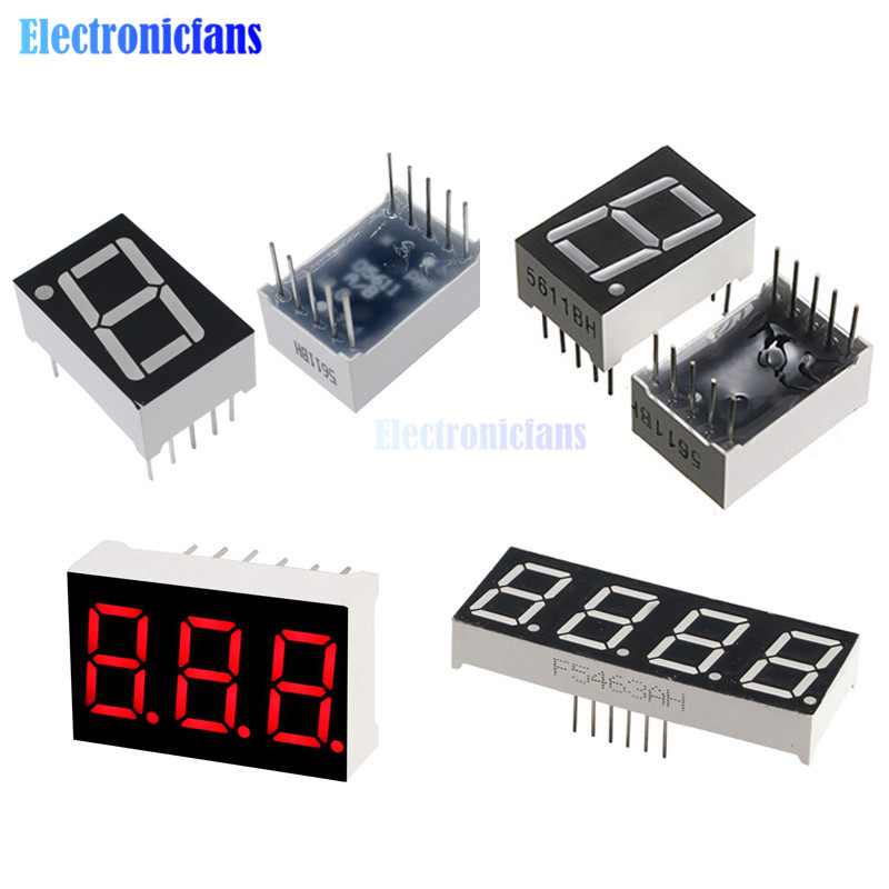5pcs 0.56inch LED display 7 Segment 1 Bit/2 Bit/3 Bit/4 Bit Digit Tube Red Common Cathode / Anode Digital 0.56 inch led 7segment