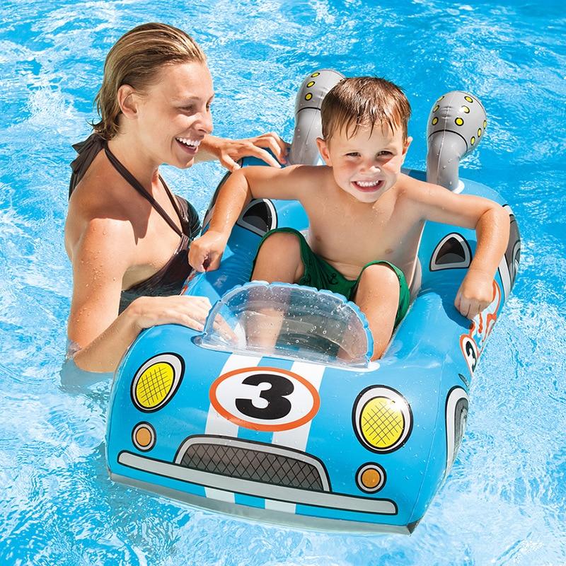 Haute qualité enfants piscine flotteur jouets avion course voiture natation anneau bébé gonflable piscine flotteur anneau enfants piscine jouet flotteur épais