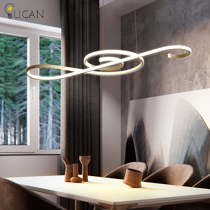 LICAN Modern LED Pendant Lights Dining room Living room Hanging Pendant fixture Note designs Creatice Pendant Lamp Lustre Modern lican dining living room modern led pendant light 3 heads aluminum hanging lamps home deco led pendant lamp brightness dimmable