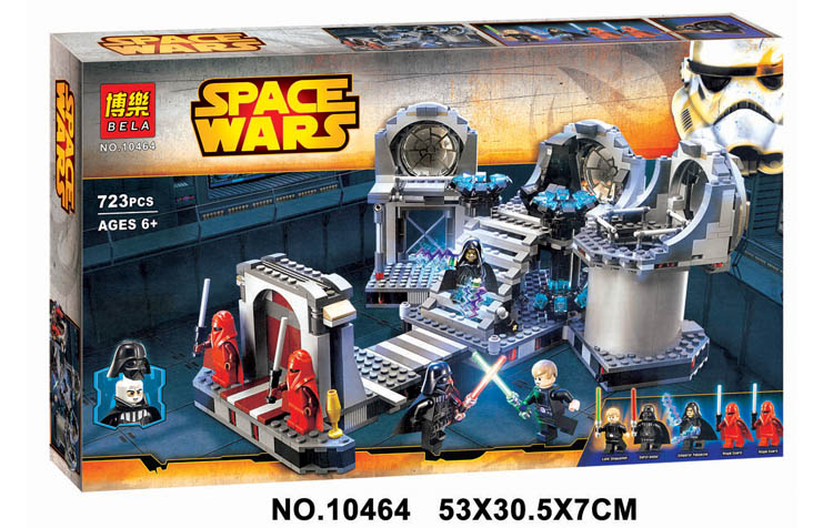 ФОТО 2016 NEW 10464 Star Wars series the Death Star Final Duel model building block Classic Toys Compatible with Lepin 75093