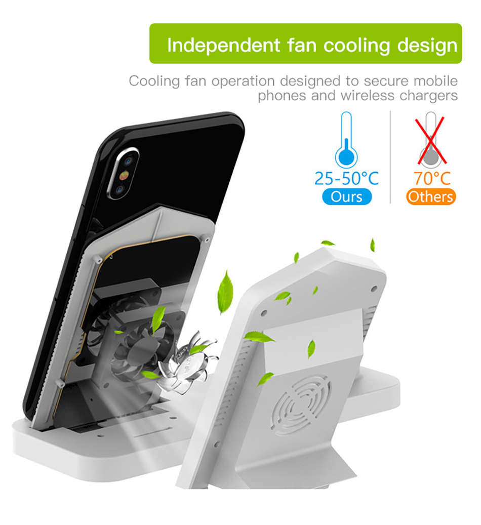 !ACCEZZ Fast Wireless Charger For Apple Watch 1 2 3 4 For iphone XS MAX XR X Samsung Xiaomi Phone Magnetic Charger For Airpods 2 (3)