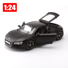 Maisto Car 1:24 Alloy Super Sports Car R8 Simulation Models Office Decoration Toy Children Boyfriend Gift