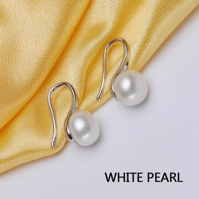 925 Sterling Silver Natural Pearl Earrings