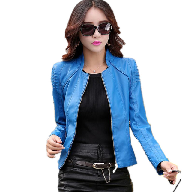 Aliexpress.com : Buy Motorcycle leather jacket women 2017 spring ...