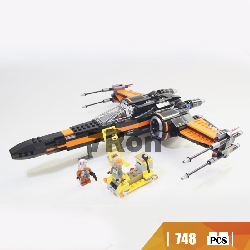 05004 Compatible with Lego blocks Star Wars 75102 Poe's X Fighter wing Model building toys hobbies bricks for children Gift Kids 2016 new free shipping retail princess dress girls baby kids children dresses for girl clothing summer dress little girl party