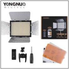 2 PCS YONGNUO YN300 III YN300III YN-300 III CRI95 3200 K-5500 K LED Vidéo Lumière avec Barndoor photographique led panneau lampe