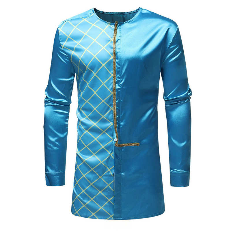 ... 2018 African Traditional Style Clothes Men Dress Shirts African Dashiki  Traditional Print Long Sleeve Costume Bottom ... 8ebd5971e