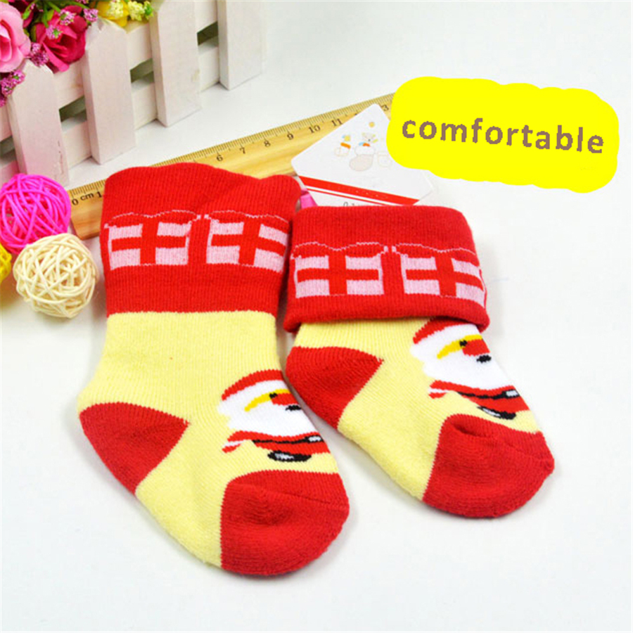 ộ_ộ ༽Christmas Cute Lovely Kid Socks Cotton Baby Anti Slip Socks 0 ...