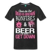 Citar Hogueras Cerveza Bajar hombres Camiseta Camiseta de Los Hombres de Negro de Algodón de Manga corta de Hip Hop T Shirt de Impresión de Camisetas creativa