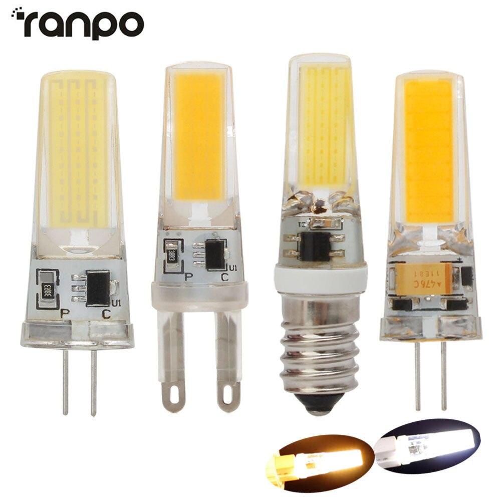 10Pcs G4 COB LED Bulb 7W LED G9 E14 lamp Crystal LED Light Bulb Lampada Bombilla Ampoule Replace Halogen AC/DC12V AC220V Lampara