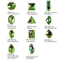 Peridot Farbe Mischen Form Nähen Auf Strass für Handwerk Kristall Grün DIY Hochzeit Kleid Dekoration Nähen Taschen Zubehör