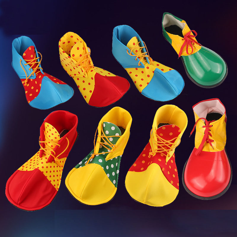 Adult Kids Circus Clown Shoes Cosplay Costume  Performance Props  Carnival Party Fancy Dress Halloween