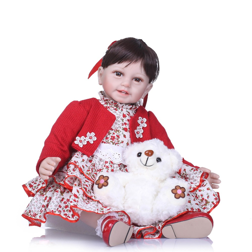 NPKCOLLECTION Boneca Reborn 55cm Soft Silicone Vinyl Dolls Bebe Reborn Baby Doll Newborn Lifelike Babies Reborn Dolls Kids Toys 55cm doll reborn babies full soft silicon lifelike newborn baby dolls baby reborn simulation toys gift for children partner