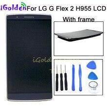 """100% テスト保証5.5 """"lg gフレックス2 H955液晶LS996 US995 H950液晶タッチスクリーンデジタイザ国会lg LS996無料ツール"""