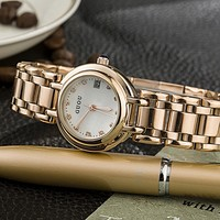 Small Dial Strip Exquisite Simple Ancient European Leisure Small Fine Steel Ladies Watch Display Calendar Watch