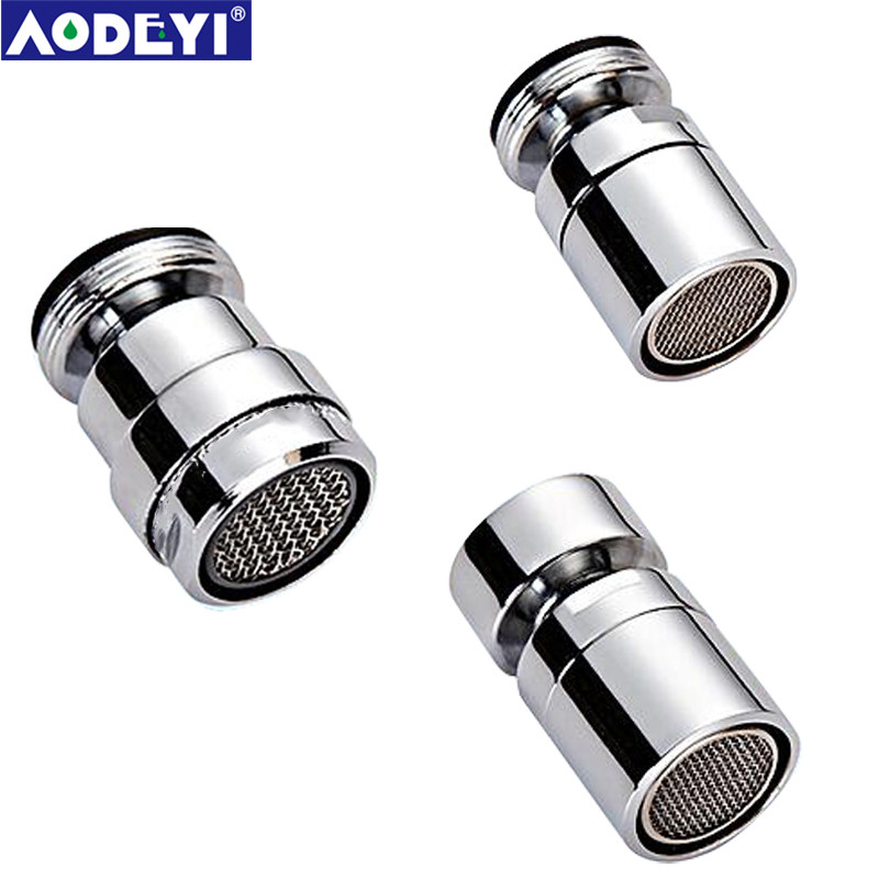 AODEYI Chrome Finish Brass Aerator 360 Degree Water Saving Aerator Bidet Faucet Tap Adapter Device Kitchen Bathroom Fitting