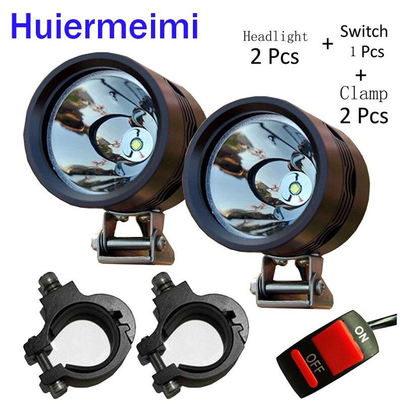 Huiermeimi 2pcs 40W 12V U2 Motorcycle Headlight led Driving car fog light angel font b lamp