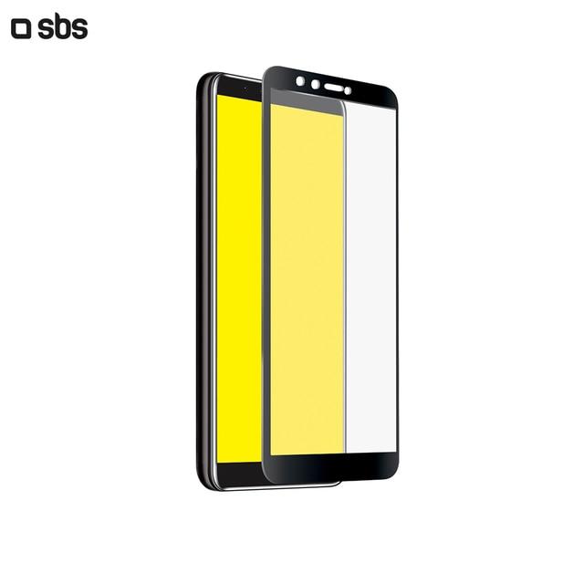 Защитное стекло 2.5D Full Screen для Huawei Y9 (2018), черная рамка, SBS