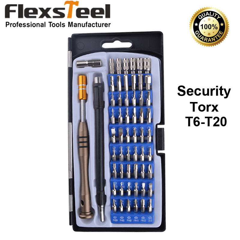 Tool Sets Pegasi 98pcs Screwdriver Security Bit Set Hex Key Phillips Slotted Tri Wing With Case Tamper Proof Chrome Vanadium