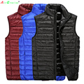 AirGracias Men 85% White Duck Down Vest Lightweight Duck Down Vest Two Sided Wear Waistcoat Vest Sleeveless Jacket Winter Coat