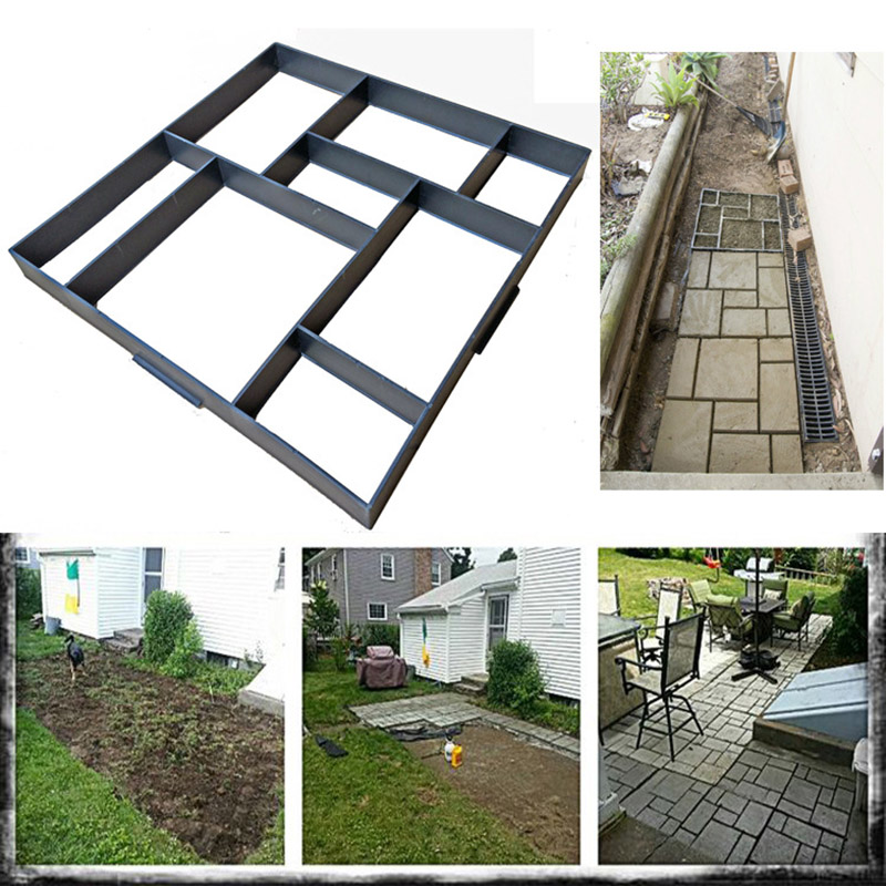 Newly Garden Path Making Mould DIY Concrete Pavement Garden Path Mold